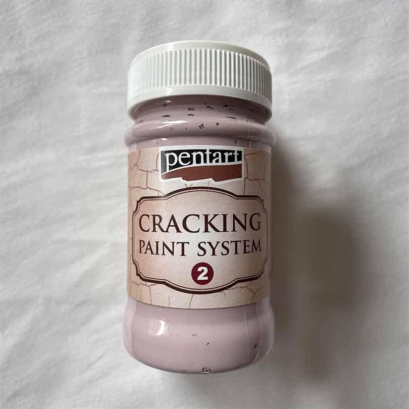 ružová krakelovacia farba